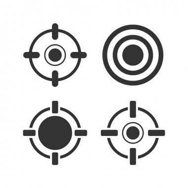 Crosshair icons. Target aim signs