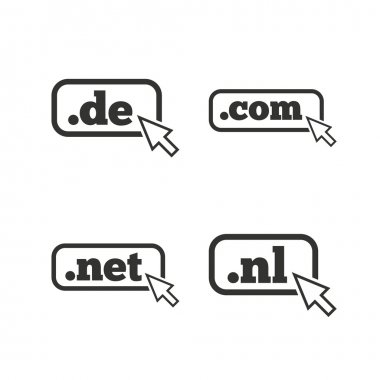 Top-level domains signs.