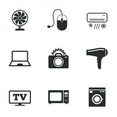 Home appliances, device icons.