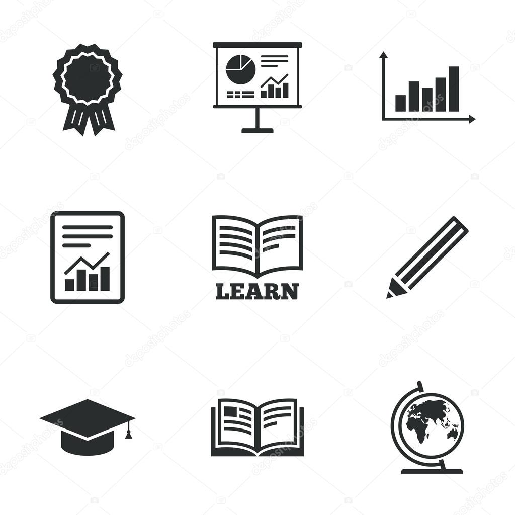 Education and study icons