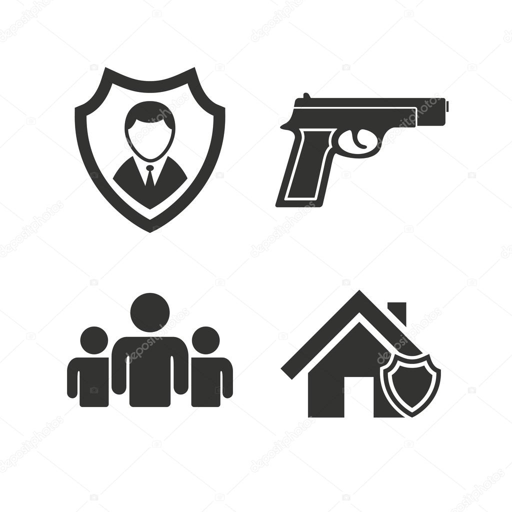 Security Agency Icons Stock Vector Blankstock 86514628