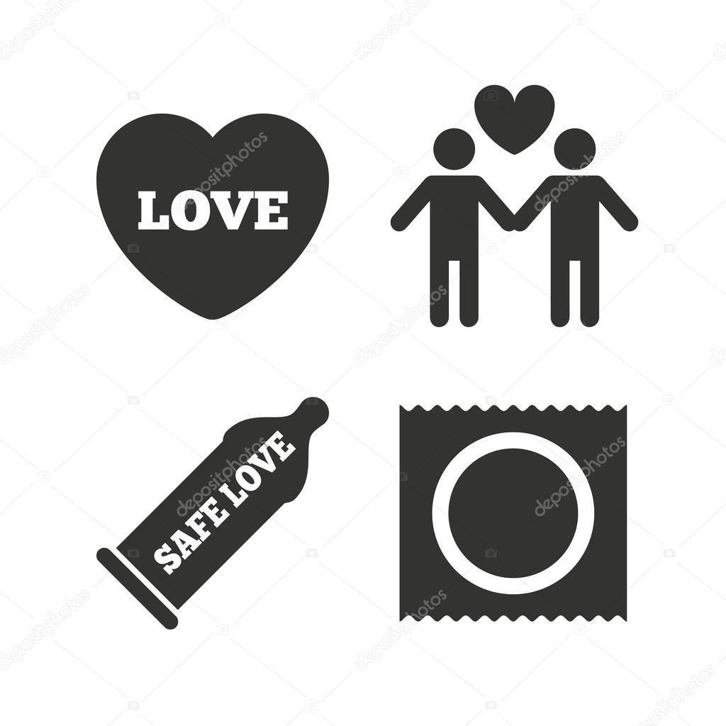 Gay illustration picture safe sex