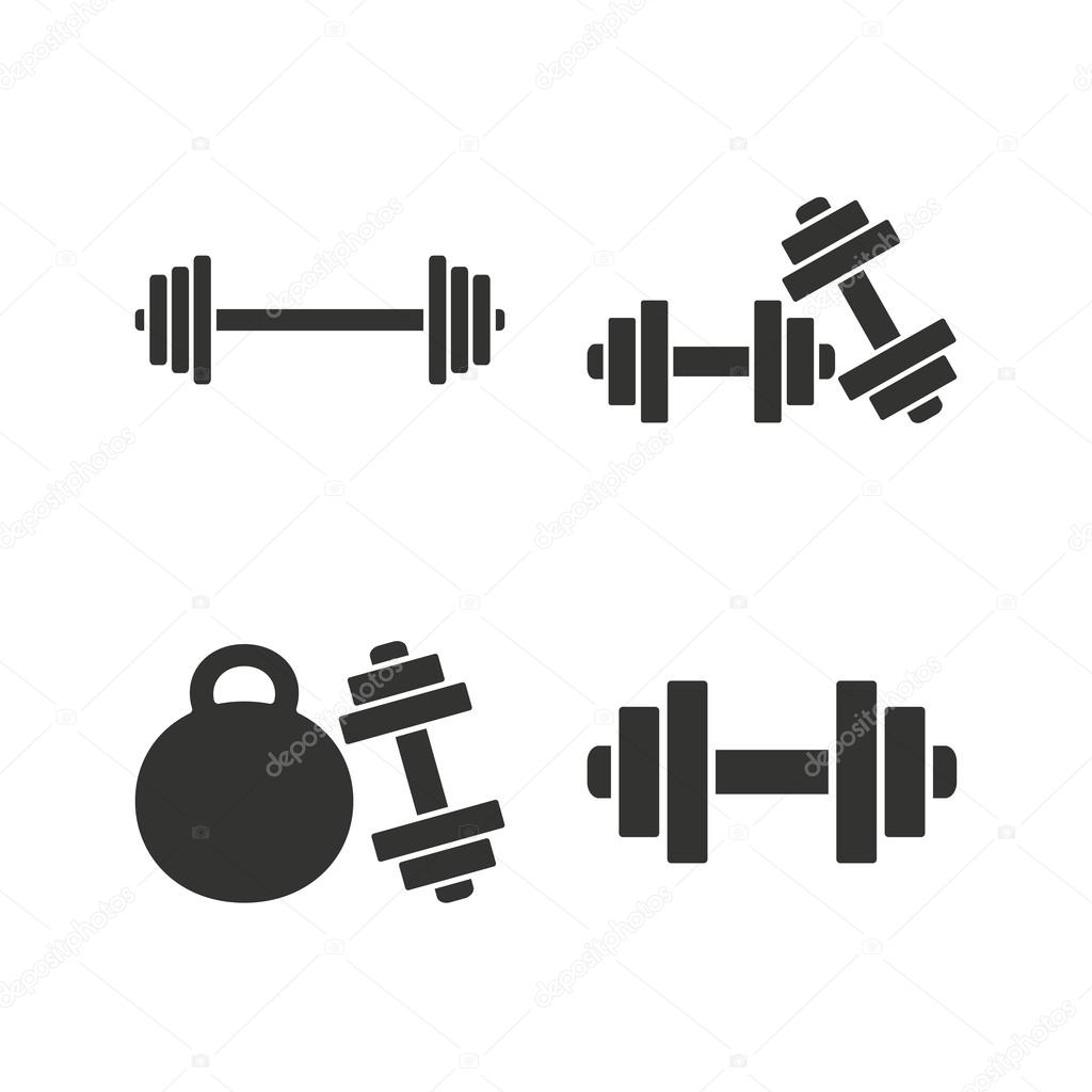 Dumbbells icons fitness sport symbols stock vector dumbbells sign icons fitness sport symbols gym workout equipment flat icons on white vector vector by blankstock biocorpaavc