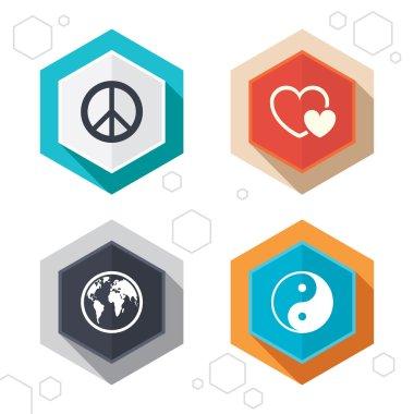 World globe icons