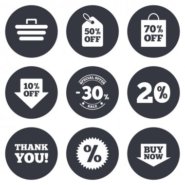 Sale discounts icons