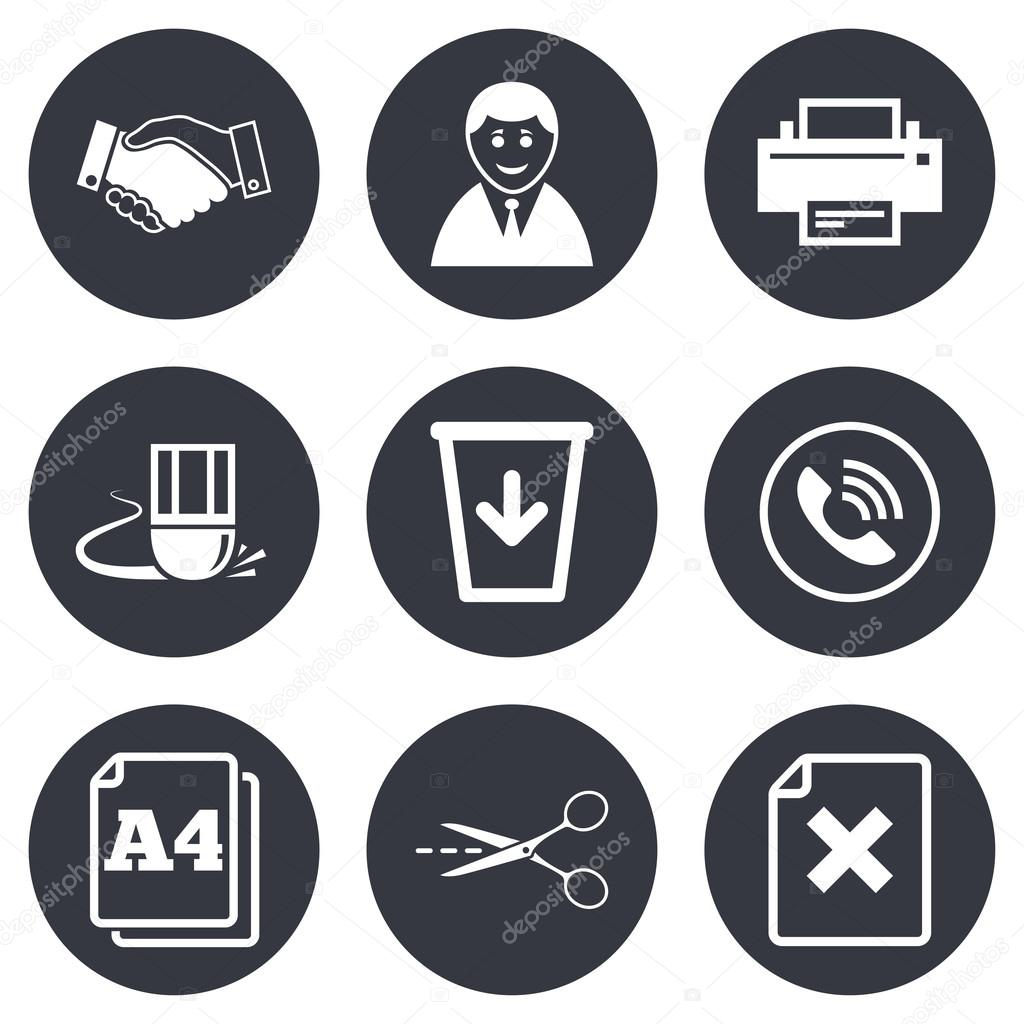 Office Documents And Business Icons Stock Vector Blankstock