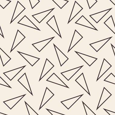 Triangles geometric seamless pattern.
