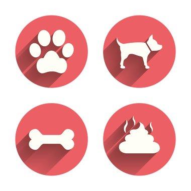 Pets icons. Dog paw