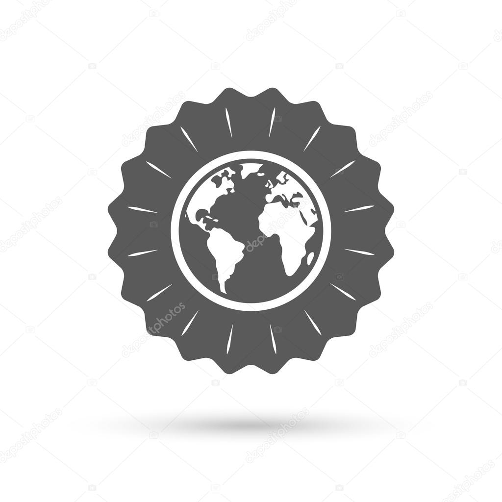 Globe sign icon world map geography symbol stock vector globe sign icon world map geography symbol classic flat icon vector vector by blankstock gumiabroncs Gallery