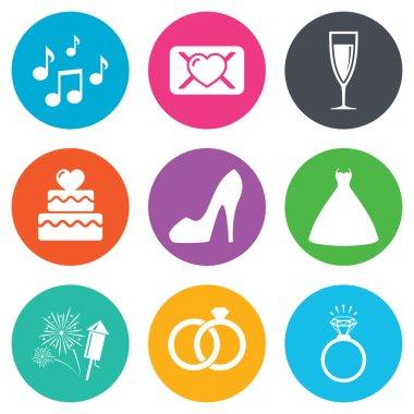 Wedding, engagement icons