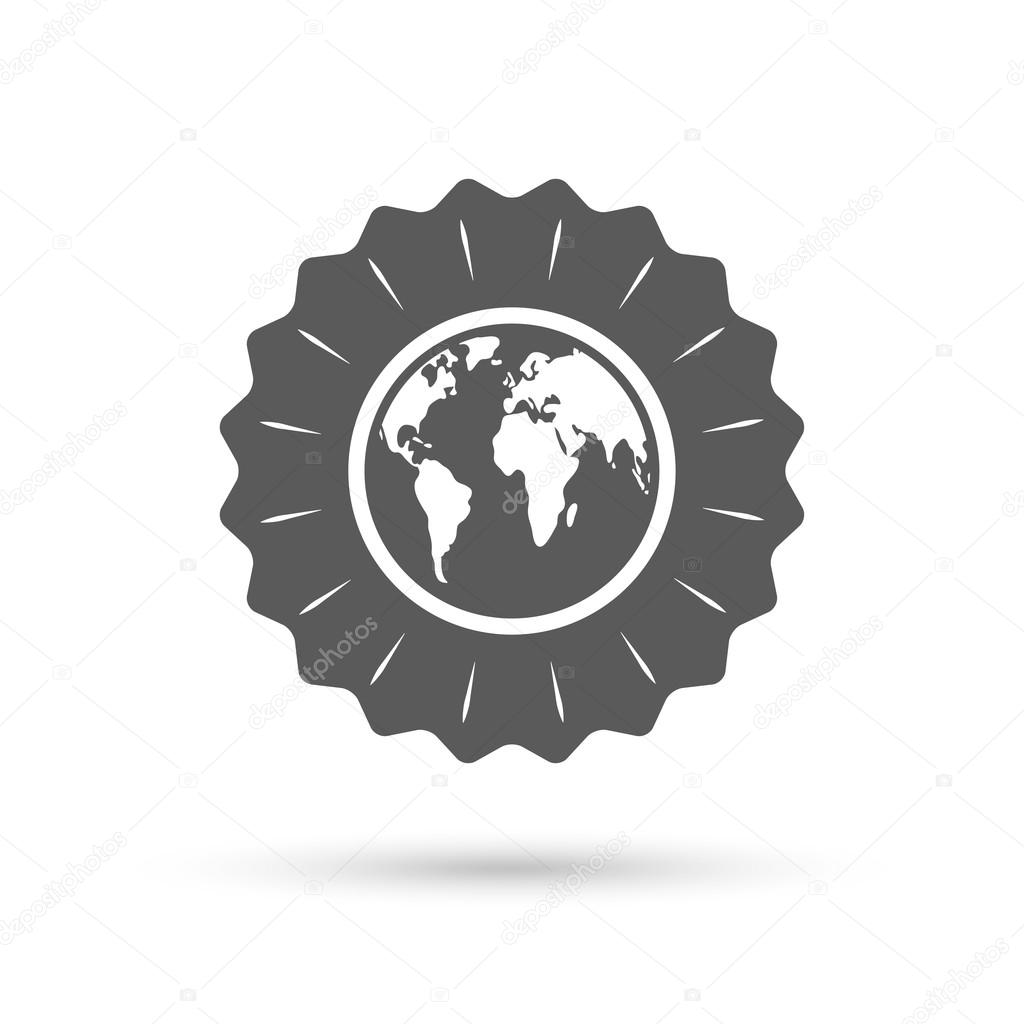 Globe sign icon world map geography symbol stock vector globe sign icon world map geography symbol classic flat icon vector vector by blankstock gumiabroncs Images