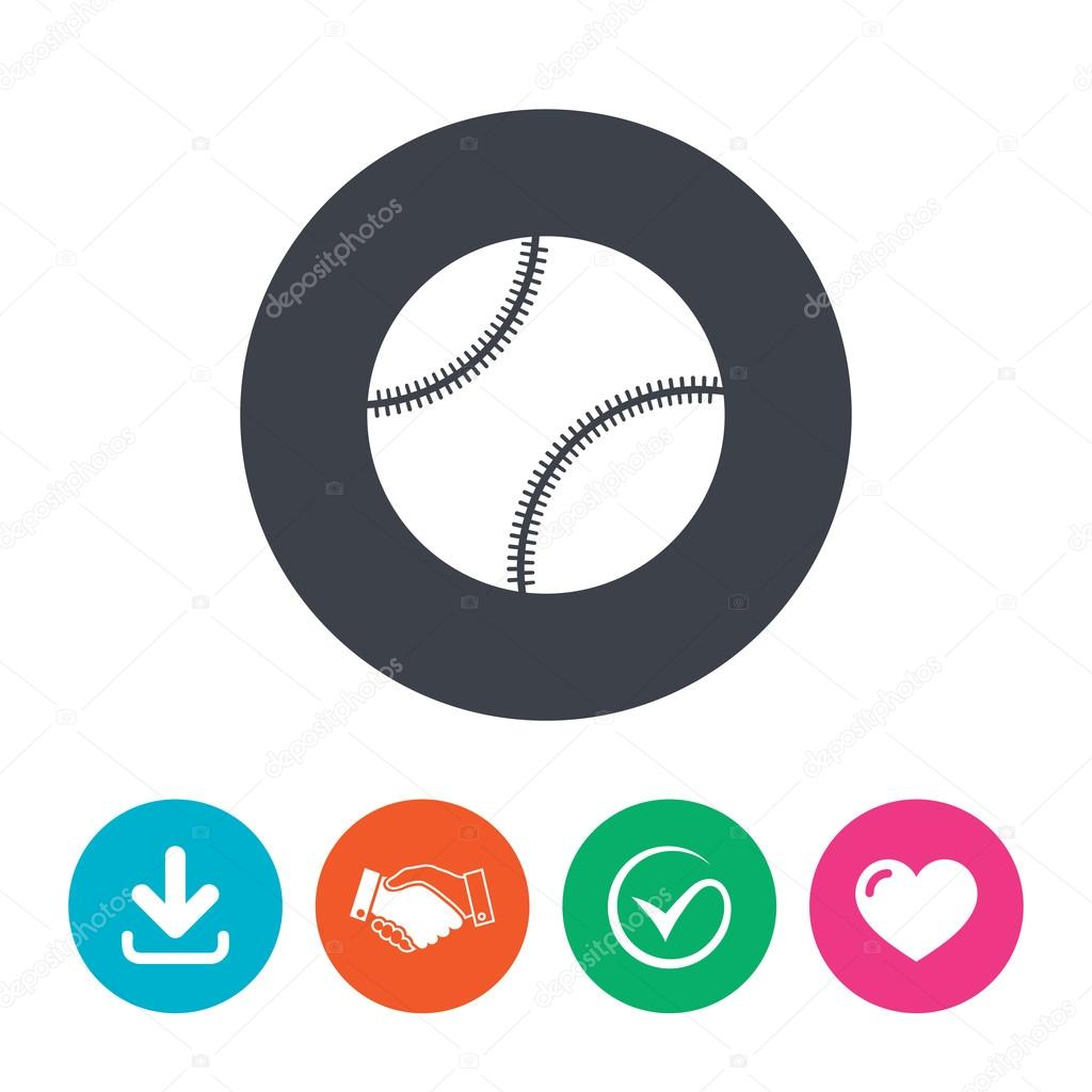 3d78621443c4c Baseball ball sign icon. — Stock Vector © Blankstock  91682232