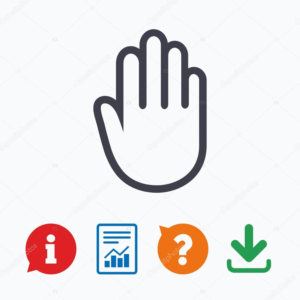 Hand sign icon no entry or stop symbol stock vector no entry or stop symbol stock vector buycottarizona