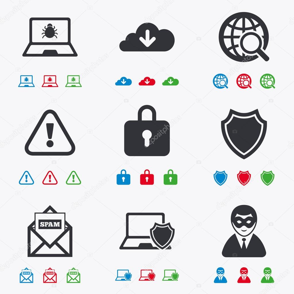 Internet privacy icons.