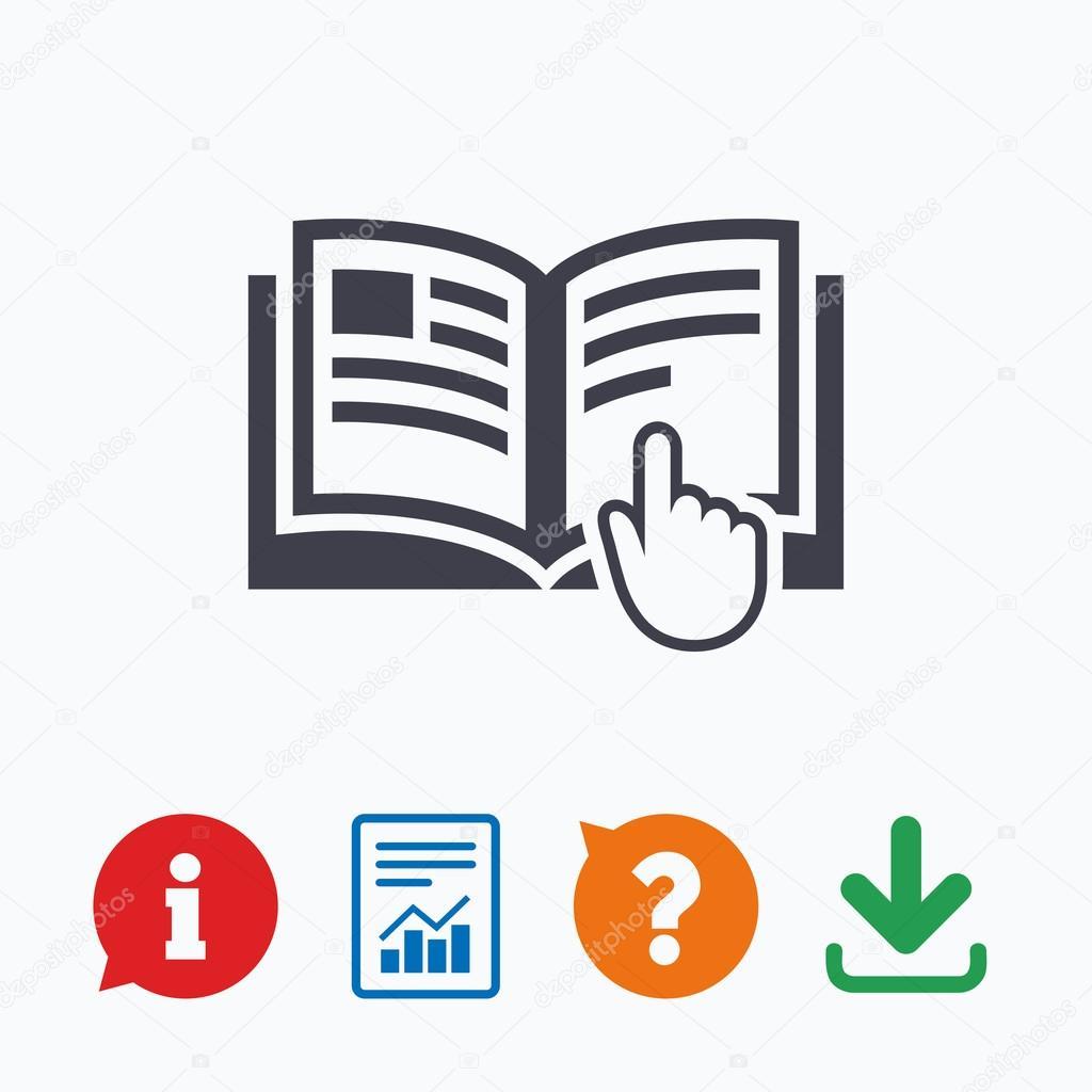 Instruction Sign Icon Stock Vector Blankstock 91693618