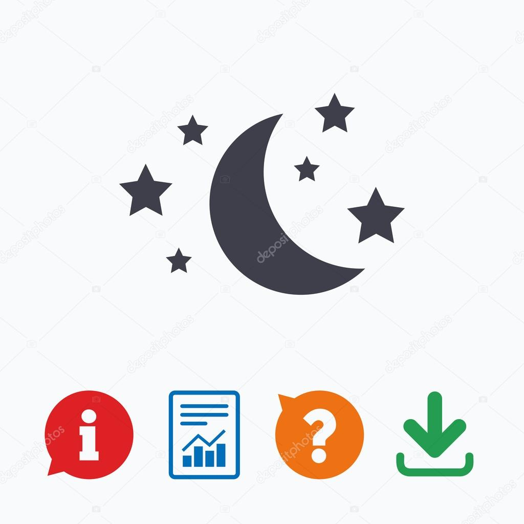 Moon And Stars Sign Icon Stock Vector Blankstock 91800360