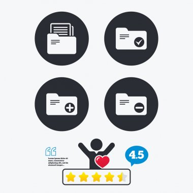 Accounting binders icons.