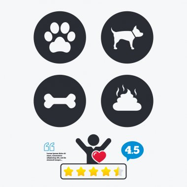 Pets icons. Dog paw