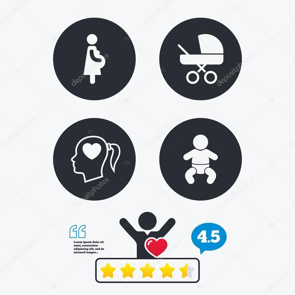 10116acf6 iconos de maternidad. bebé bebé — Vector de stock © Blankstock  92541018