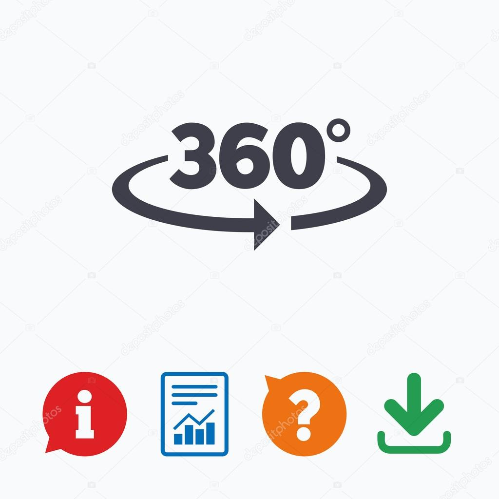 Angle 360 Degrees Sign Stock Vector Blankstock 93411122
