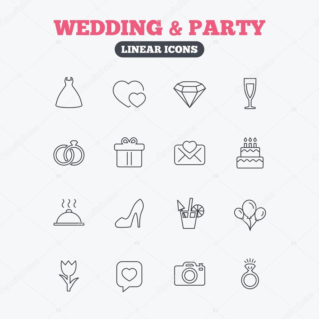 Wedding and party icon.