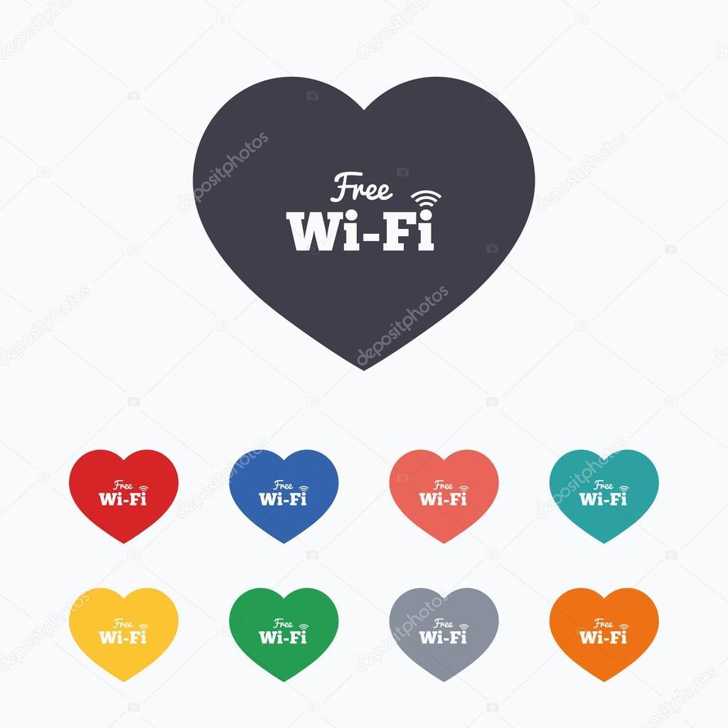 Señales de wifi gratis de amor — Vector de stock © Blankstock  96142390 6db45d98fbf7c