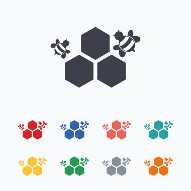 Honeycomb sign icons