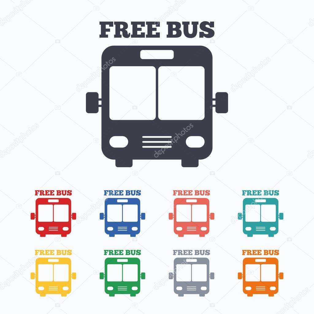 バス無料サイン アイコン — ストックベクター © blankstock #99438796