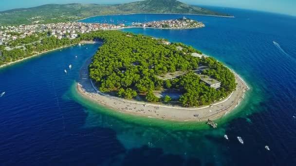 Primošten pláže letecký snímek