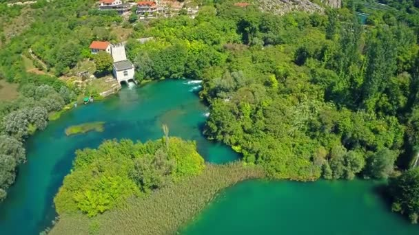 Roški Slap vodní elektrárna, letecký snímek