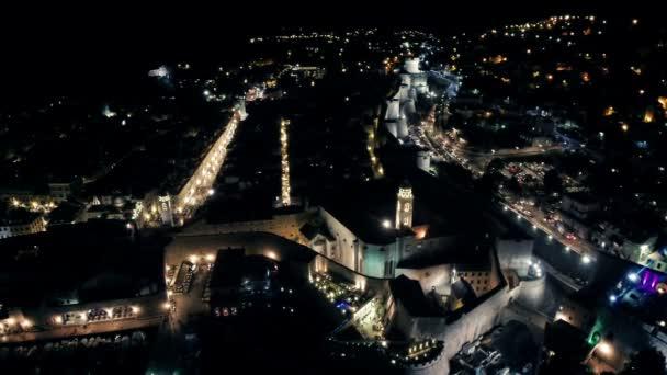 Staré město Dubrovník pouliční Placa v noci