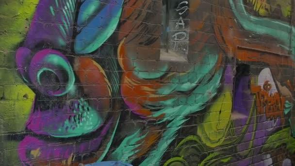 Pestré graffiti opice profilu