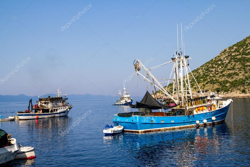 Fishing boats near Dubrovnik