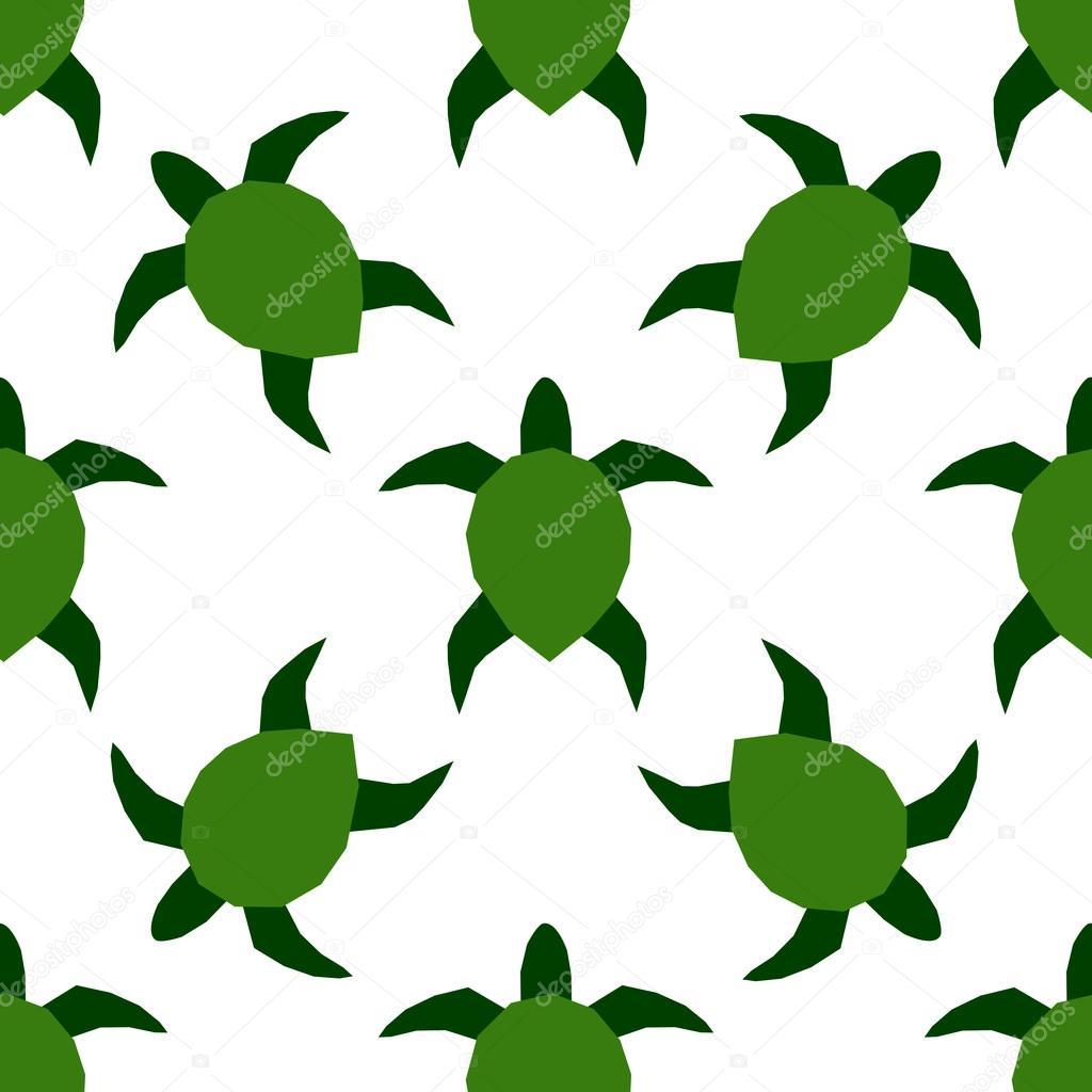 Ilustración de vector de las tortugas marinas. Marina de patrones ...