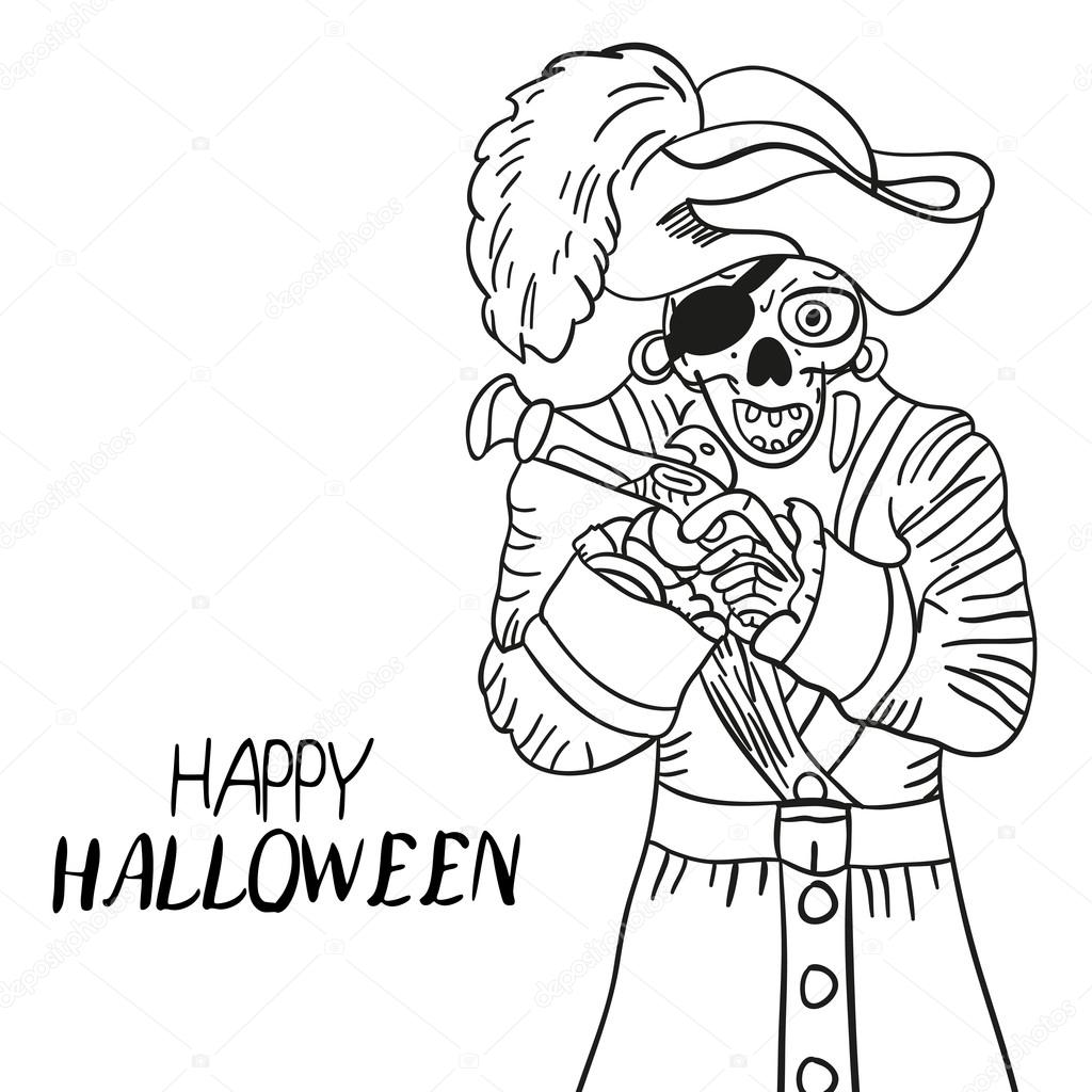 Squelette Pirate Halloween Skull And Bones Croquis