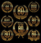 Fotografie Geburtstag goldene Lorbeer Kranz retro Vintage-Design 80 Jahre