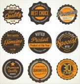 Prémiové kvality retro štítky