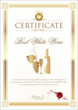 Certificate - Best Wine