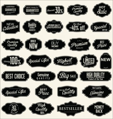 Collection of vintage retro labels