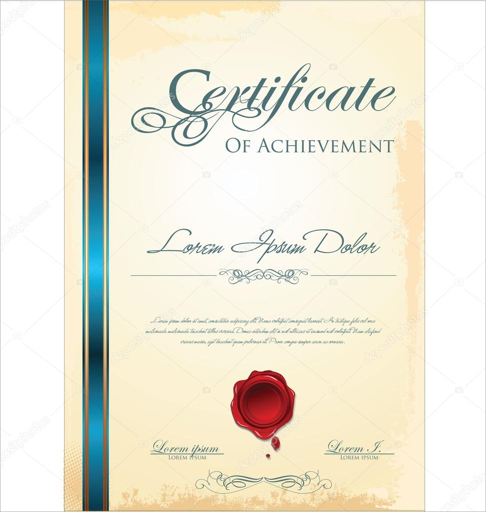 Blank Certificate Template Stock Vector Totallyout 66397233