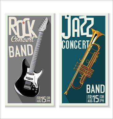 Jazz and rock concert banner