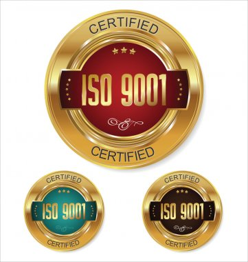 ISO 9001 certified badges collection
