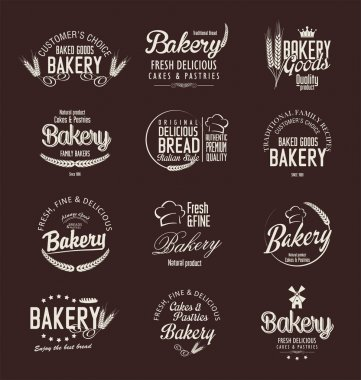 Bakery retro labels