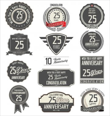 Anniversary label collection