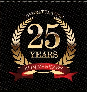 Anniversary golden laurel 25 years