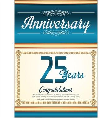Anniversary background 25 years