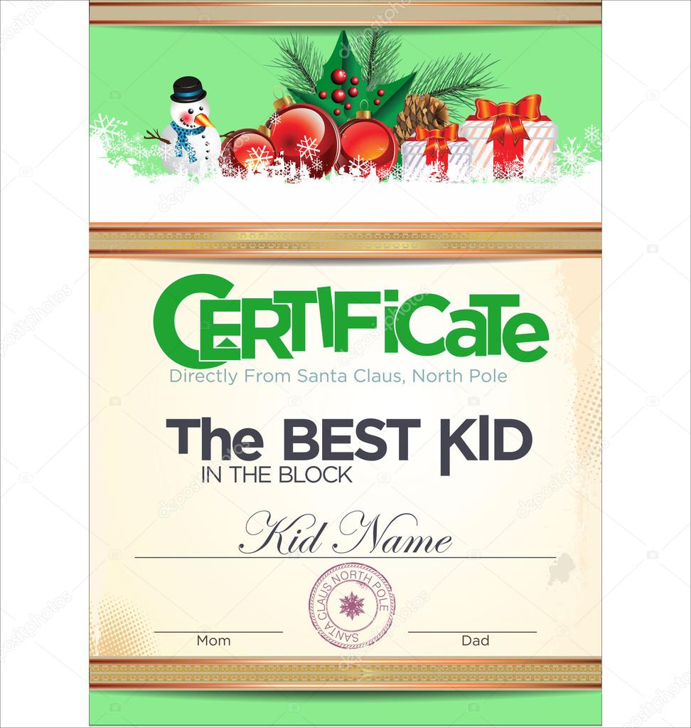 Kids certificate for christmas stock vector totallyout 85159392 kids certificate for christmas stock vector 85159392 xflitez Images