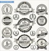 Fotografie Anniversary retro badges collection