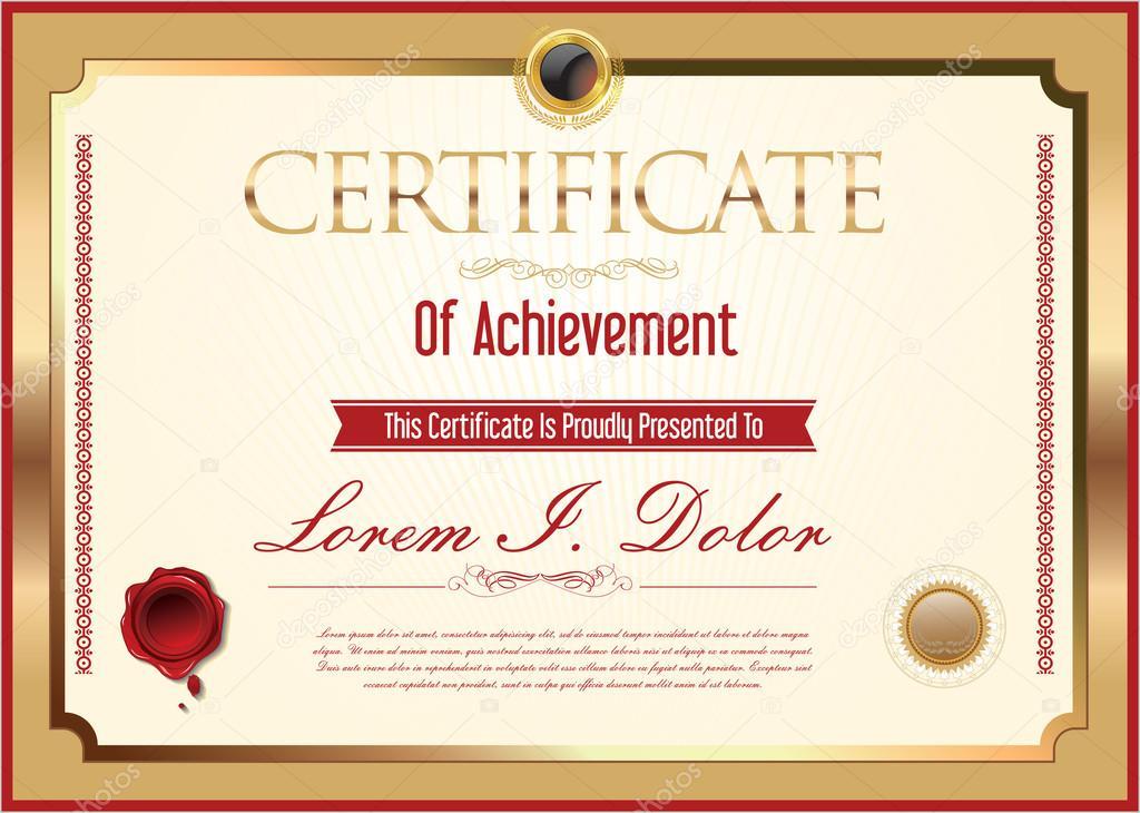 certificado ou diploma de conclusão \u2014 vetor de stock © totallyoutcertificado ou diploma de conclusão \u2014 vetor de stock