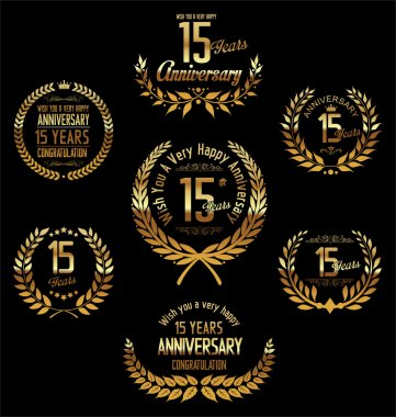 Anniversary laurel wreath 15 years